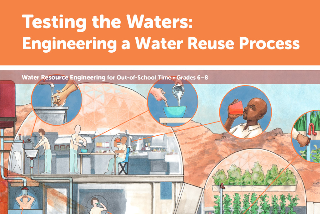 Testing the Waters image with graphic of water being used in various ways with a cyclical connection
