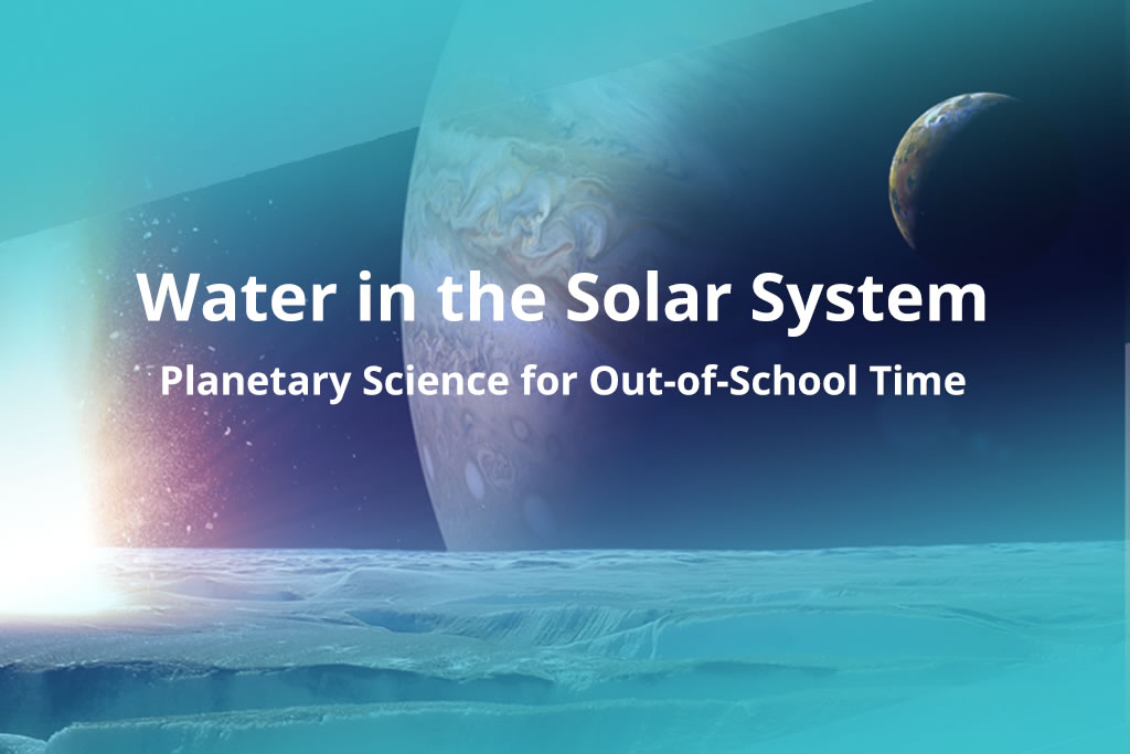 Water in Extreme Environments Science band cover image of a planet, moon, and moon surface