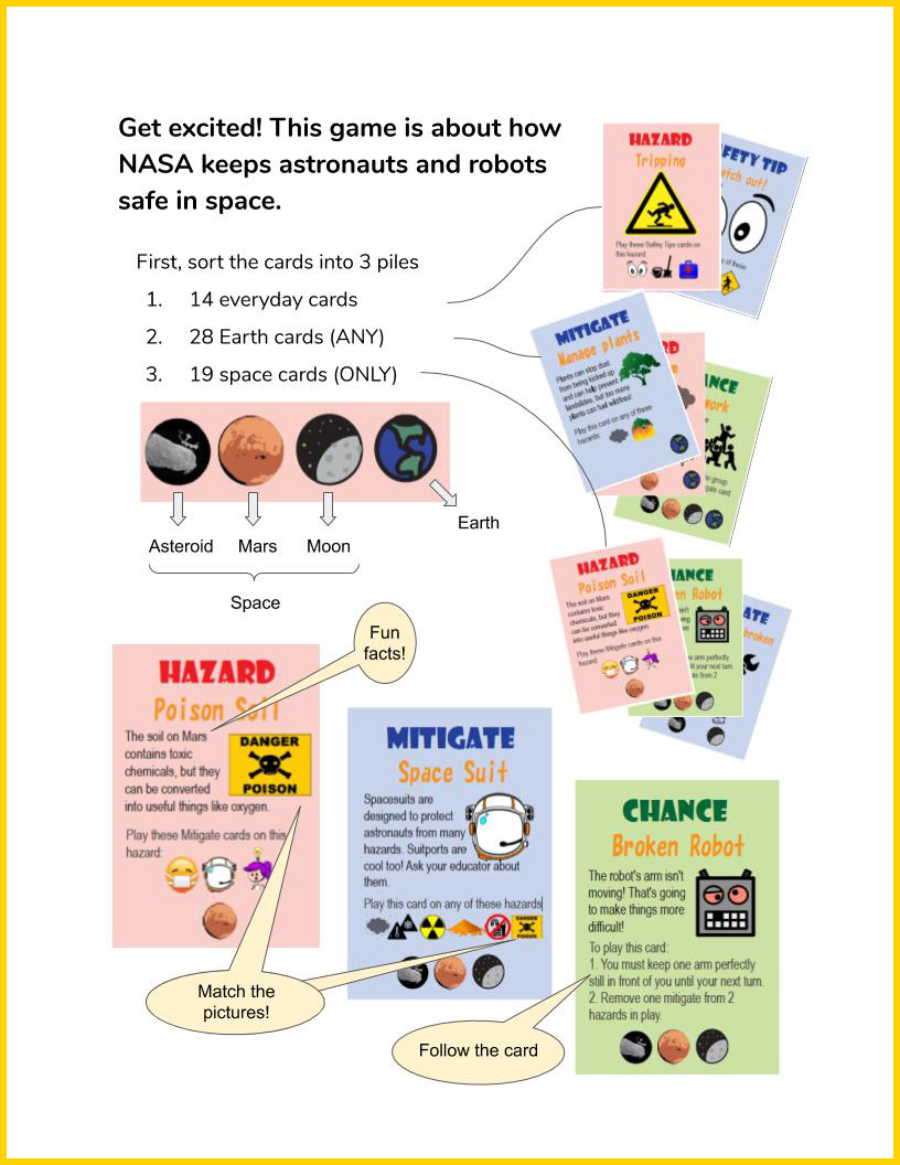 Space Hazards Game Instructions page 1
