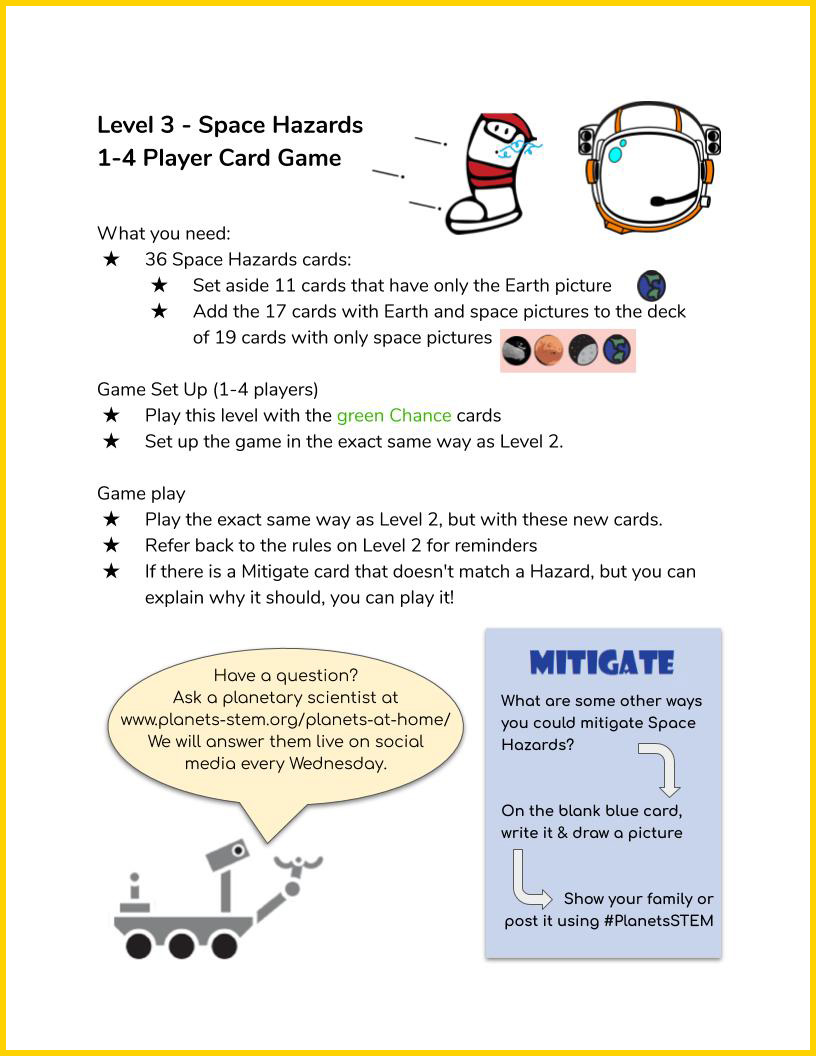 Space Hazards Game Instructions page 4