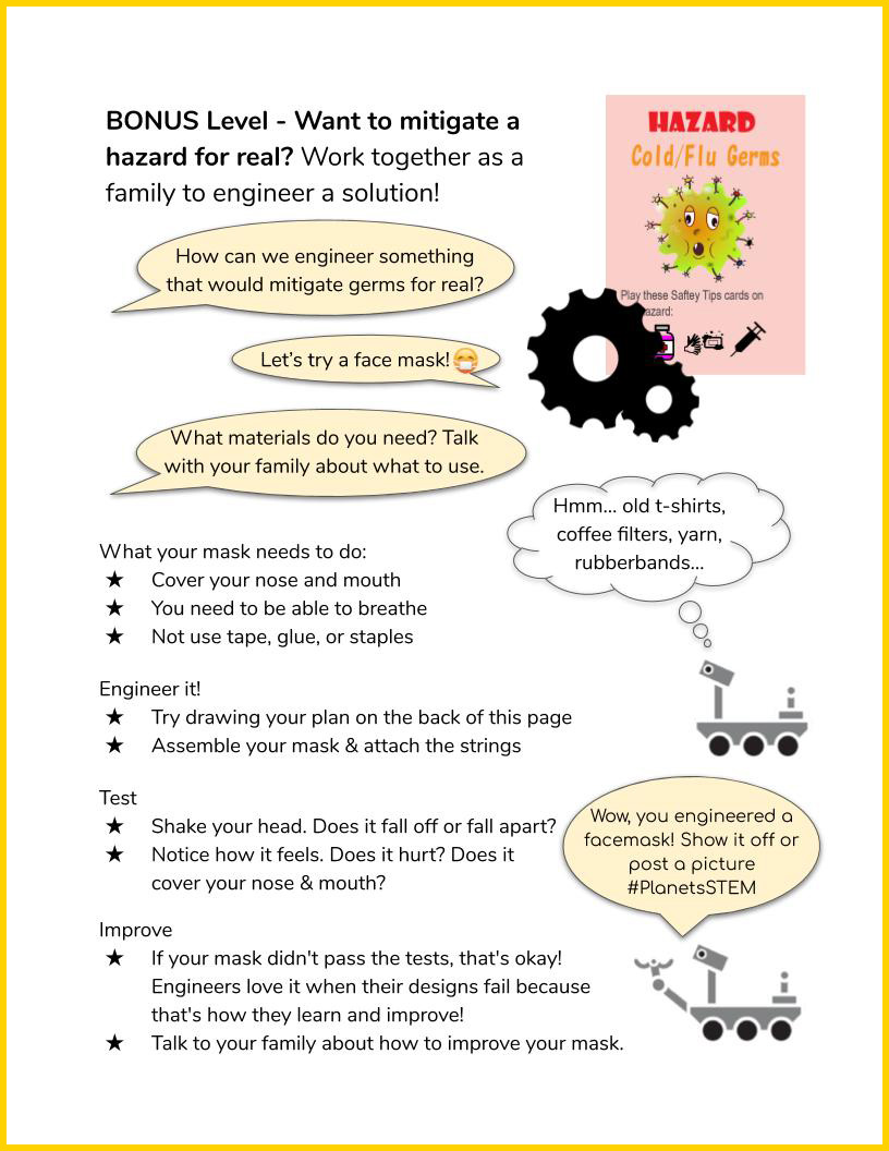 Space Hazards Game Instructions page 5