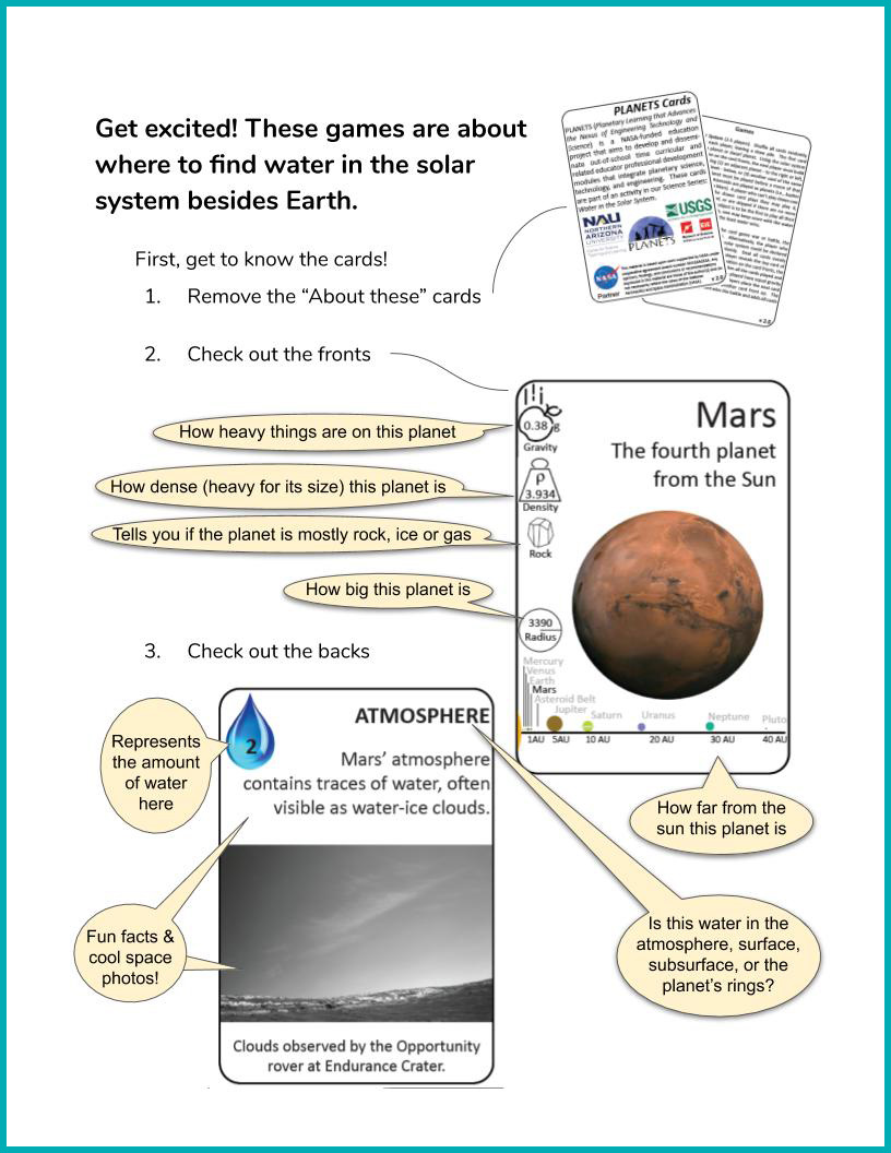 Water in Extreme Environments Game Instructions page 1