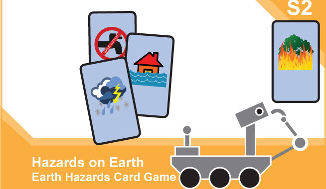 Space Hazards: Activity – Science S2 card front