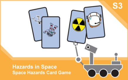 Space Hazards: Activity – Science S3 card front